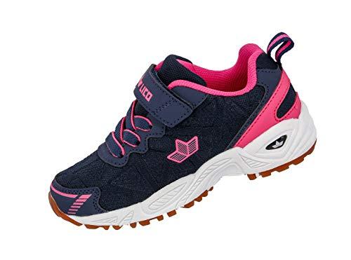 b51b29aa8eadfe Lico Mädchen Flori VS Multisport Indoor Schuhe Blau Marine Pink