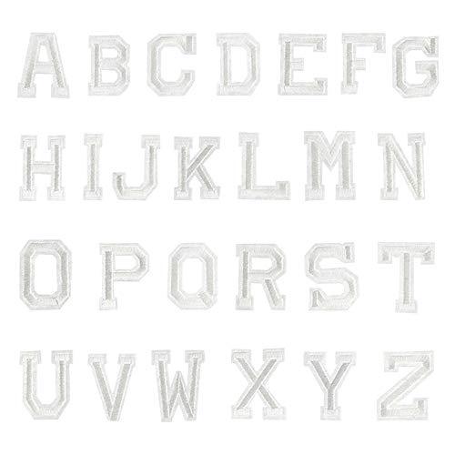 elbild Aufbügler Bügeleisen auf Patches Applikation 26er Englisch Alphabet-Muster Weiß ()
