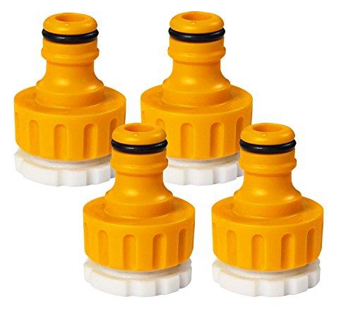 Hozelock Lot de connexion Nez de robinet pour 26,5 mm (G 3/4) avec adaptateur pour 22 mm (G 1/2), multicolore, 1/2 et 3/4 \