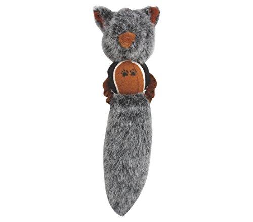 Dehner Hundespielzeug Beaver, mit Quietscher, ca. 31 x 7 cm, Plüsch, grau