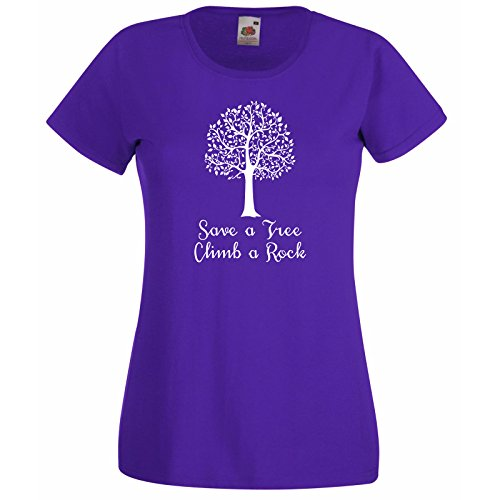 t-shirt-femmes-avec-citation-save-a-arbre-escalader-un-rocher-modle-fruit-of-the-loom-super-premium-