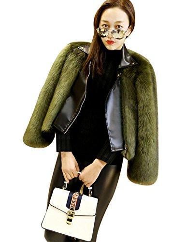 Ceanfly Einfarbig Faux Pelz Fox Bekleidung Frauen Jacke Herbst Winter Warm Parka Outerwear Streetwear -