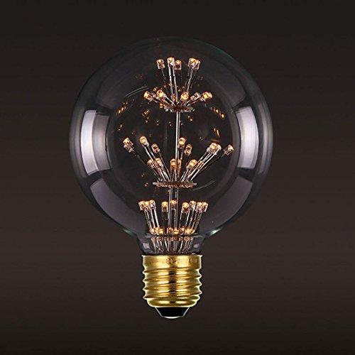 40 Wvintage Edison die Glühbirne tungsten Lampe Kronleuchter Atmosphäre von Glühbirnen personalisierte Dekoration glühende Kugel Kaffee Restaurant und Bar Kunstgalerien, rosa-G 95 Edison Pearl Kugel, die (Glühbirnen Rosa)