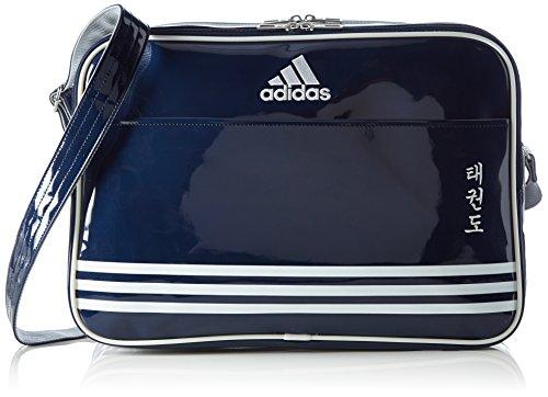 e Shiny Sports Bag PU TKD, Navy Blue/Silver, 50 x 35 x 8 cm, 28 Liter, adiACC100CS2 (Taekwondo-ausrüstung Von Adidas)