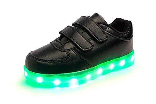official photos 8ccef 1b135 Bling-Bling LED Schuhe - Sport Sneakers mit in Sieben Verschiedenen Farben  leuchtender Sohle -