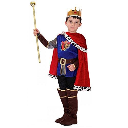 LOLANTA 7 STÜCKE Jungen Mittelalterlichen Prinz König Kostüm Kind Halloween Prinz Cosplay Kostüm