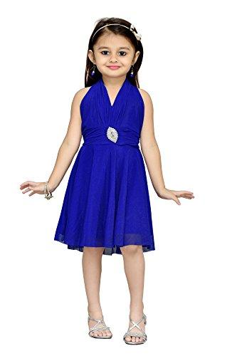 Aarika Girl's Layered Party Wear Frock (C-204-BLUE_26_5-6 Years)