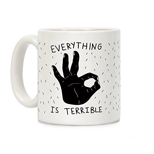 Schrecklich weiß 11Unze Keramik Kaffee Tasse ()
