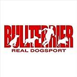 Siviwonder Auto Aufkleber BULL TERRIER BULLTERRIER Hundesport DOGSPORT Hundeaufkleber 30cm red