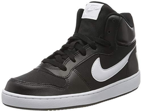 Nike Jungen Court Borough MID PE (GS) Basketballschuhe, Mehrfarbig (Black/White 001), 39 EU