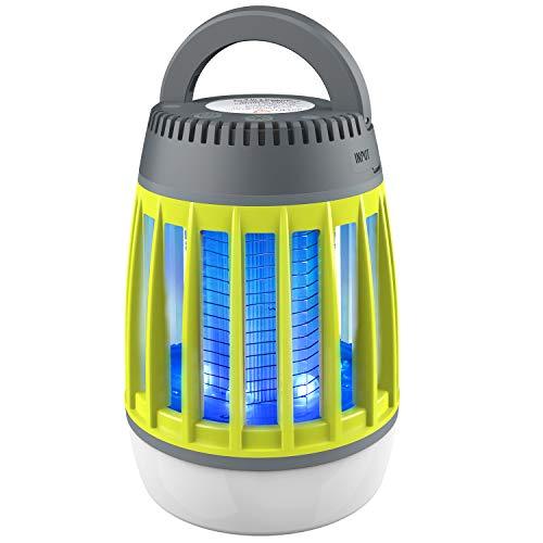 Insektenvernichter,WloveTravel3-in-1 Moskito Mörder Campinglampe Auladen im Notfall 2200mAh Wiederaufladbarer Akku mit einziehbarem Haken 3 Modi von Beleuchtung