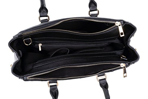 LeahWard® zu Ende Große Größe Damen Tote Handtasche Damen Mode Essener Berühmtheit Schultertaschen Qualität Kunstleder CWD223 CWJM443 CWJM443-Gelb/Weiß/Cream
