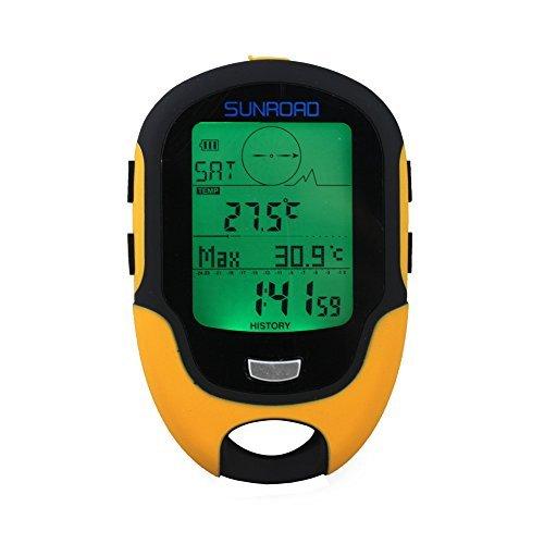 evertrust (TM) UK Sunroad FR500Multifunktions-LCD-Digital Höhenmesser Barometer Kompass Thermometer Hygrometer Wettervorhersage LED Taschenlampe Wasserdicht