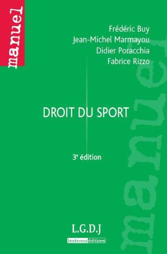 Droit du sport par Frédéric Buy
