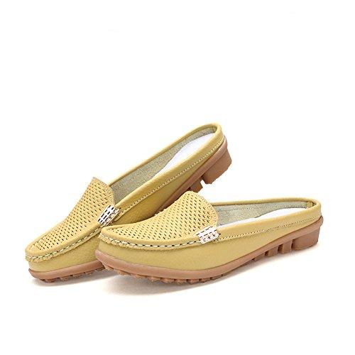 Eagsouni® Femme Mocassins Pompes Chaussures dété occasionnels Pantoufles Jaune