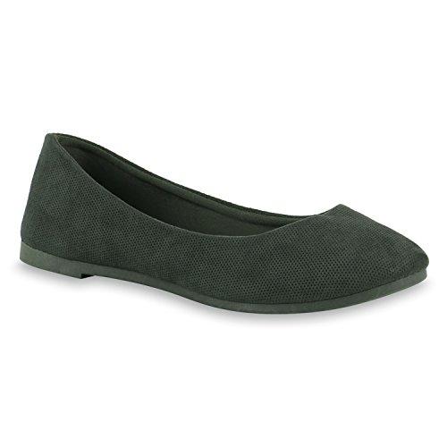 Cheio Sapatilhas Flats Verde De Óptica Escuras Pintura Couro Bailarinas Mulheres wA5q8Pw