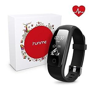 Runme Activity Tracker, Fitness Tracker con Monitor de Ritmo cardíaco y sueño, Smart Fitness Watch con Podómetro, GPS… 3