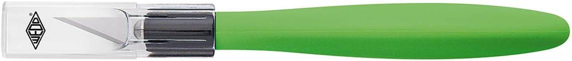Wedo 7852199 Cutter Skalpell Comfortline (mit Softgriff inklusive 5 Ersatzklingen und Schutzkappe) apfelgrün/schwarz