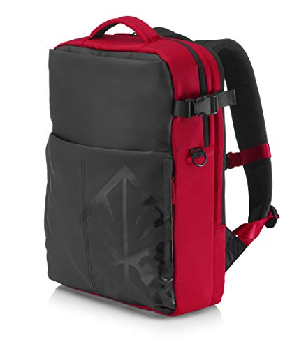 HP OMEN Gaming Business Water Resistant Backpack for 17.3'' Laptops with Self Repairing Dual Concealed Zippers (4YJ80AA)