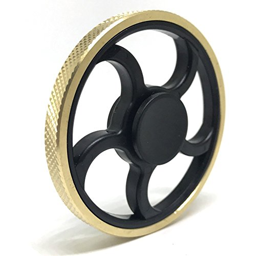Jawell Fidget Hand Spinner EDC Toy with HighSpeed Spinning Superb Bearing Gold Round Edge Good for Stress Relief and Deep Thought (Rolling)