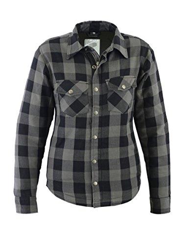 Lumberjack Damen Jacken-Hemd, Reißfest, Wasserabweisend, Kariert, Größe 40, Grau