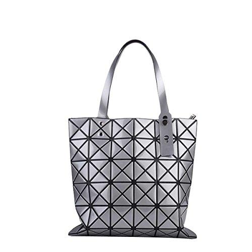 Forma Geometrica Pacchetto Cube Pieghevole Varietà Borsa A Tracolla Della Borsa Di Modo Casuale Silver