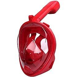 FRFJY Masque de plongée intégral avec Tuba 180 ° Design panoramique sans Danger Anti-buée et Anti-Fuite Utilisation en extérieur pour Adultes et Enfants