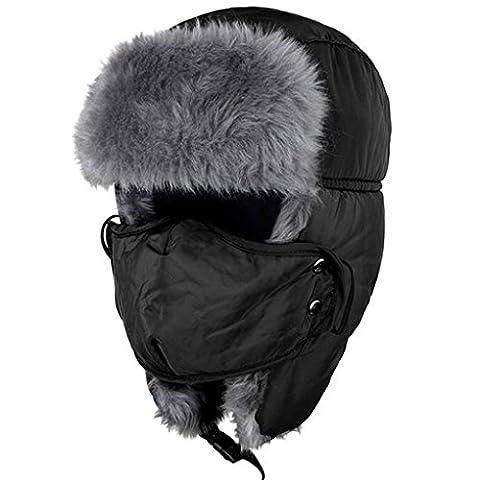 LUFA Chapeau de chasse d'hiver unisexe Chapeau de chasse Boucle d'oreille et masque à vent