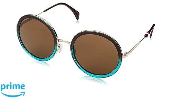 Tommy Hilfiger Damen Sonnenbrille TH 1474/S 70 Agd, Braun (Brwnshadegre/Brown), 53