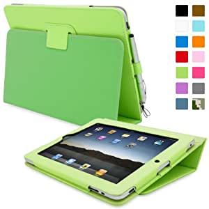 iPad 2 Hülle (Grün), SnuggTM - Smart Case mit lebenslanger Garantie + Sleep / Wake Funktion