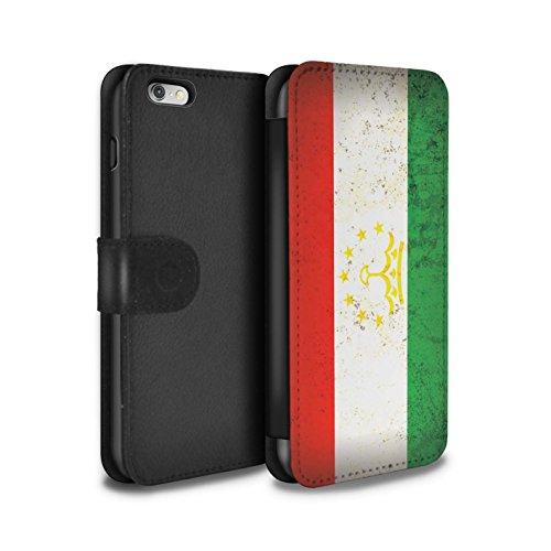 STUFF4 PU-Leder Hülle/Case/Tasche/Cover für Apple iPhone 8 / Georgien/Georgisch Muster / Asien Flagge Kollektion Tadschikistan