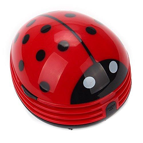 ANKEER Mini multifunción escritorio vacío escritorio polvo limpiador, es un lindo y portátil Ladybug escarabajo. Tres colores disponibles: rojo, verde, amarillo.Puede limpiar el polvo o las migas de pan desde su escritorio. Operación simple, fácil de...