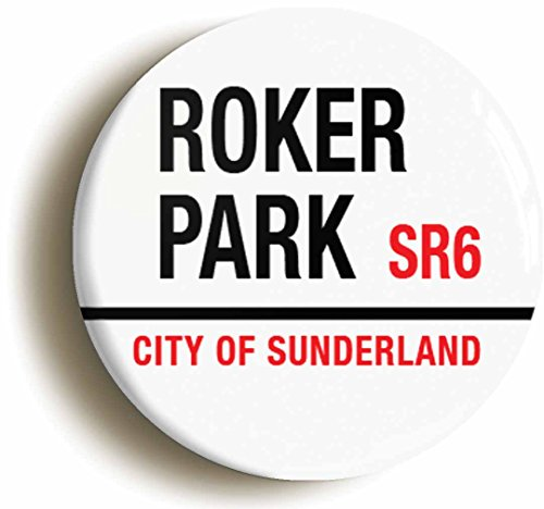 ROKER PARK RETRO SUNDERLAND BADGE BUTTON PIN  Size is 1inch   25mm diameter