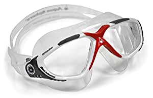 Aqua Sphere Vista Clear Lens Goggle - Red/White