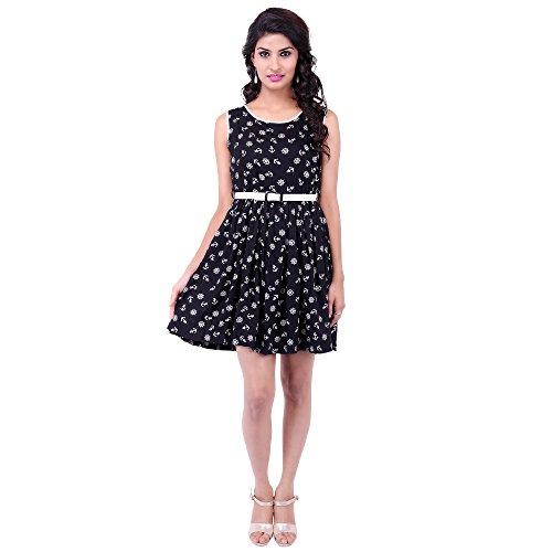 FBBIC Women's Party Wear Mono Cotton Dress