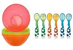 Munchkin Multi Feeding Bowls 6 Piece Fork and Spoon Set