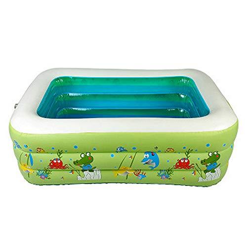 ZOUQILAI Kinder Säuglingsschwimmbad Aufblasbare Sommer Badepool Aufblasbare Grüne PVC Bubble Bottom Schwimmbad Grün