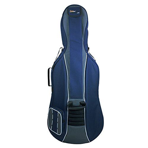 Tomandwill Classic - Funda para violonchelo 1/2, color azul marino y gris