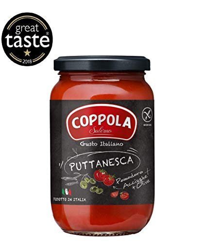 Coppola Puttanesca Sauce - No Sugar Added 350g (Pack of 6)