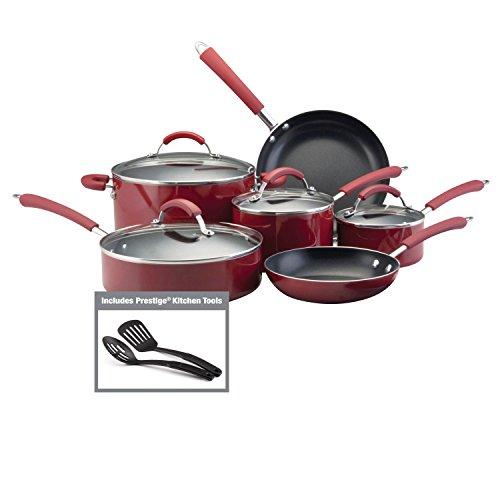 Farberware Millennium Farben Aluminiumguss Aluminium 12-teilig Kochgeschirr Set 12 Piece rot - Farberware 12