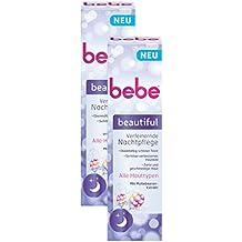 bebe beautiful Verfeinernde Nachtpflege / Feuchtigkeitsspende Nachtcreme mit Moltebeeren-Extrakt für alle Hauttypen / 2 x 50ml