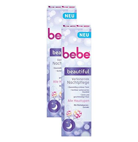 bebe beautiful Verfeinernde Nachtpflege - Feuchtigkeitsspende Nachtcreme mit Moltebeeren-Extrakt...