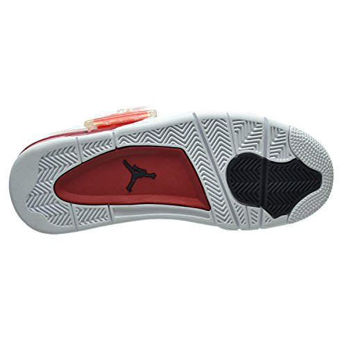 Nike Air Jordan 4 Retro, Chaussures de Sport Homme white/black-gym red