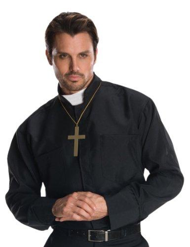 Imagen de rubie's  disfraz camisa cura con collar cruz, talla única 880568
