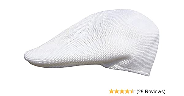 8a34daed5fe Mens White Flat Cap  Amazon.co.uk  Clothing