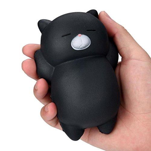 atze , Squeeze Spielzeug , Yogogo 1 Cent Artikel Exquisite Kawaii Lazy Katze | Duft Langsam Steigende Spielzeug | Handy Zubehör Dekoration | Tasche Dekoration | Geschenk | 12x8x4cm (Schwarz) (Geschenk-taschen Schwarz)