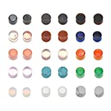 Mixed Stone Saddle Ear Plugs Stretcher Expander Tunnels Ear Gauges Piercing Jewelry (15 Pairs of 10mm)