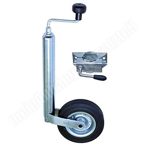meinAnhängerersatzteil Winterhoff Stützrad mit Halter Bugrad mit Drucklager 150kg f. Pkw Anhänger + Stützradhalter - Anhänger-reifen-halter