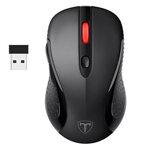 Laptop Maus, TOPELEK  PC Maus Schnurlos Maus Wireless Mouse Optical Business Mouse USB Funkmaus Optische Mäuse 2.4 G 2400 DPI Drahtlose Maus mit Nano-Receiver, 6 Tasten, Energiesparender Schlafmodus Für PC Laptop iMac Macbook Microsoft Pro, Office, Home