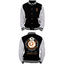 Star Wars VII - BB-8 Astromech Droid Hombres College Jacket / Chaqueta - Negro